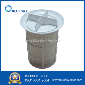 White Mesh Enclosure Vacuum Cleaner Filter with ABS Frame