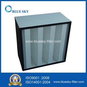 Compact Rigid Filter for The Air Conditioning with 4V-Bank