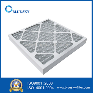 Customized 14.4x14.4x1.8Inch MERV 6 Cardboard Frame Pleated AC Furnace Air Filter