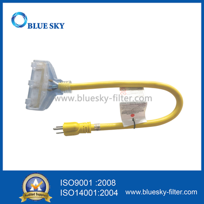 Transparent Connector 60 Cm Yellow Extension Electric Power Cord Cable for Vacuum Cleaners