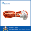 Orange 3m Extension Electric Power Cord & Cable for Vacuum Cleaners
