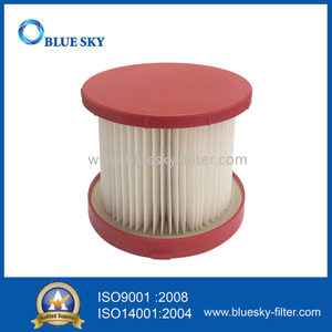 Red Cartridge Filter for Milwaukee Vacuum Cleaner Replace Part 49-90-1900