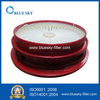 Vacuum Cleaner Round Red Replacement HEPA Filters