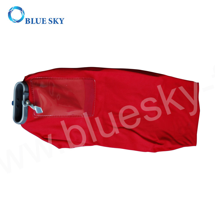 Red Cloth Dust Bag with Zipper for Sanitaire SC600 Vacuum Cleaners