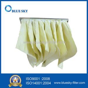 592*592*525mm Synthetic Fiber F7 Pocket Air Conditioning Filter Bags